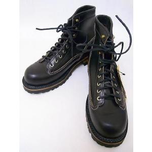 LONE WOLF[ロンウルフ] ブーツ LOGGER ロガー LW00125 (BLACK)|cream05