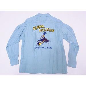 STYLE EYES[スタイルアイズ]×Mookie Sato[ムーキーサトウ] オープンシャツ SE27721 US NAVAL AIR STATION 長袖 RAYON OPEN SHIRT (ミントグリーン)|cream05