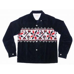 STYLE EYES[スタイルアイズ] オープンシャツ SNOWFLAKE SE27722 長袖 CORDUROY SPORTS SHIRT (ブラック)|cream05
