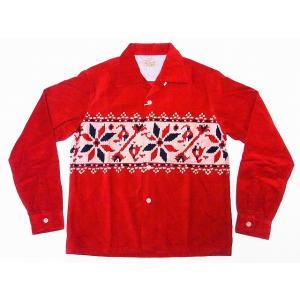 STYLE EYES[スタイルアイズ] オープンシャツ SNOWFLAKE SE27722 長袖 CORDUROY SPORTS SHIRT (レッド)|cream05