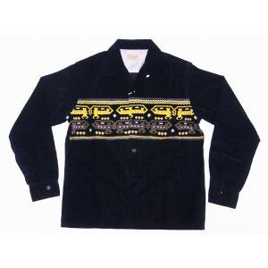 STYLE EYES[スタイルアイズ] オープンシャツ DEVIL DOG SE27723 長袖 CORDUROY SPORTS SHIRT (ブラック)|cream05