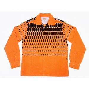 STYLE EYES[スタイルアイズ] オープンシャツ ELVIS DOTS SE27724 エルビスドット 長袖 CORDUROY SPORTS SHIRT (オレンジ)|cream05
