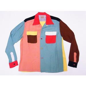 STYLE EYES[スタイルアイズ] ボウリングシャツ SE27975 長袖 オープンシャツ RAYON TWILL CRAZY BOWLING SHIRT (クレイジー)|cream05