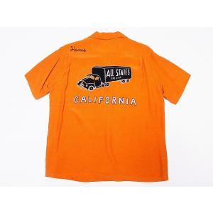 STYLE EYES[スタイルアイズ] ボウリングシャツ SE37797 CALIFORNIA ボーリングシャツ (オレンジ)|cream05
