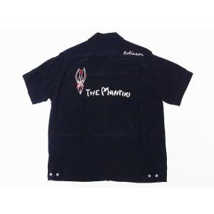 STYLE EYES[スタイルアイズ] ボウリングシャツ SE37800 THE MANTIKI ボーリングシャツ (ブラック)|cream05