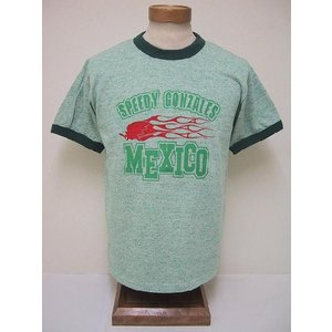 BLUE BUCK[ブルーバック] Tシャツ 88/12 スピーディーゴンザレス MEXICO SGHS81T05 (H.GREEN)|cream05
