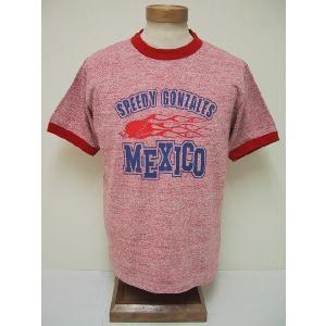 BLUE BUCK[ブルーバック] Tシャツ 88/12 スピーディーゴンザレス MEXICO SGHS81T05 (H.RED)|cream05