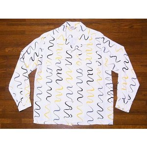 STAR OF HOLLYWOOD[スターオブハリウッド] オープンシャツ SH28123 長袖 WAVY STRIPE オープンカラーシャツ (オフホワイト)|cream05