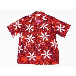 STAR OF HOLLYWOOD[スターオブハリウッド] オープンシャツ BLUE HAWAII SH38118 半袖 オープンカラーシャツ (レッド) cream05