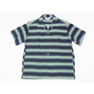 STAR OF HOLLYWOOD[スターオブハリウッド] オープンシャツ GRADATION STRIPE SH38122 半袖 オープンカラーシャツ (ミントグリーン) cream05