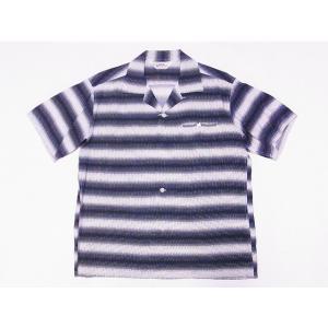 STAR OF HOLLYWOOD[スターオブハリウッド] オープンシャツ GRADATION STRIPE SH38122 半袖 オープンカラーシャツ (オフホワイト) cream05