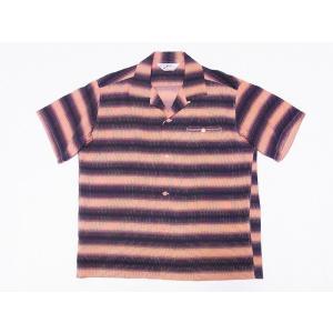 STAR OF HOLLYWOOD[スターオブハリウッド] オープンシャツ GRADATION STRIPE SH38122 半袖 オープンカラーシャツ (ピンク) cream05