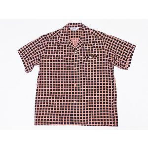 STAR OF HOLLYWOOD[スターオブハリウッド] オープンシャツ SQUARE GRID SH38126 半袖 オープンカラーシャツ (ブラック) cream05