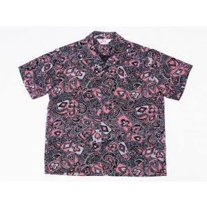 STAR OF HOLLYWOOD[スターオブハリウッド] オープンシャツ PLAYING CARD & PAISLEY SH38127 半袖 オープンカラーシャツ (ブラック) cream05