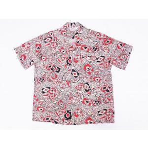 STAR OF HOLLYWOOD[スターオブハリウッド] オープンシャツ PLAYING CARD & PAISLEY SH38127 半袖 オープンカラーシャツ (オフホワイト) cream05