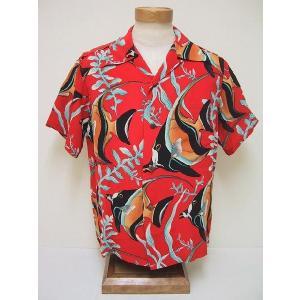 SUN SURF[サンサーフ] アロハシャツ KIHI KIHI (RED)|cream05