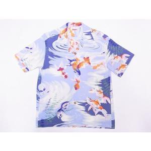 SUN SURF[サンサーフ] アロハシャツ SS38027 GOLD FISH 金魚 (グレー)|cream05
