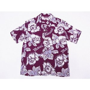 SUN SURF[サンサーフ] アロハシャツ SS38028 PATTERN OF TROPICAL PLANTS (ワイン)|cream05