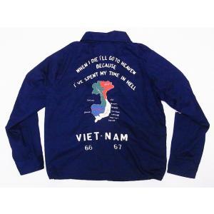 テーラー東洋[東洋エンタープライズ] ベトジャン VIET-NAM MAP 地図 TT14076 ベトナムジャンパー COTTON VIETNAM JACKET (ネイビー)|cream05