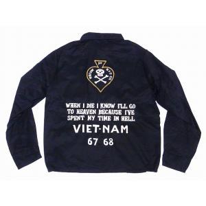 テーラー東洋[東洋エンタープライズ] ベトジャン TT14343 1ST RECON H&C CO. ベトナムジャンパー COTTON VIETNAM JACKET (ブラック)|cream05