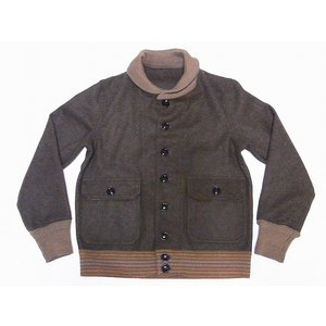 WAREHOUSE[ウエアハウス] A-1 スタイル ウールジャケット 2133 A-1 STYLE WOOL JACKET (ODグリーン)|cream05