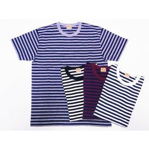Whitesville[ホワイツヴィル] ポケットTシャツ WV78197 ボーダー Tシャツ ポケT 14/- S/S BORDER POCKET T-SHIRT|cream05