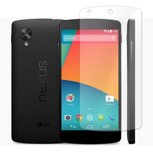 【レビュー記入で送料無料 メール便発送】 Google Nexus 5用液晶保護フィルム (スクリーンプロテクター) 光沢仕様 (Google Nexus5 ケース Screen protector)