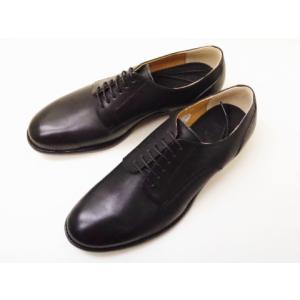 ショセ chausser メンズ プレーントウダービー C-7013 BLACK men's 靴 creation-shoes