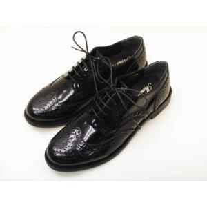 マリー・ルイーズ Marie Louise ウイングチップシューズ MLS-46E BLACKエナメル レディース 靴|creation-shoes