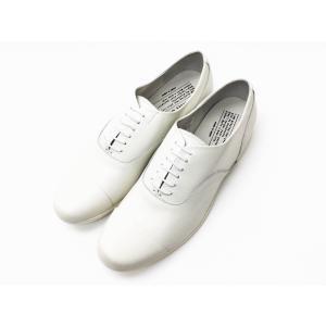 トラベルシューズバイショセ ストレートチップシューズ TR-001 ホワイト WHITE レディース 靴|creation-shoes
