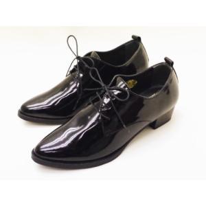 マリー・ルイーズ Marie Louise レースアップシューズ MLS-57E BLACKエナメル レディース 靴|creation-shoes