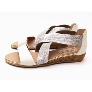 gaimo ガイモ エラスティックエスパドリーユサンダル NATAL WHITE(オフホワイト) レディース creation-shoes