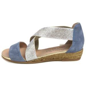 gaimo ガイモ エラスティックエスパドリーユサンダル NOVER71 サックスブルー ライトブルー creation-shoes