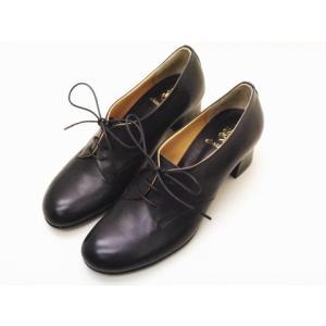 ショセ chausser 靴 レディース C-2223 BLACK レースアップヒールシューズ creation-shoes