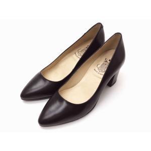 ボントレ BONTRE ポインテッドトウパンプス #72201 BLACK チャンキーヒール スペイン製|creation-shoes