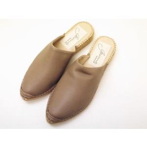 gaimo ガイモ スリッパサンダル ABEJA71 グレーベージュ レディース creation-shoes