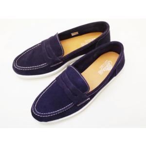 Vulcarini ブルカリーニ メンズ コインローファースニーカー ネイビー 靴 スペイン製 creation-shoes