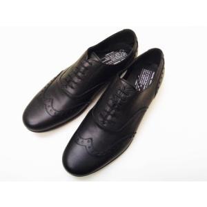 トラベルシューズバイショセ MEN'S ウイングチップ TR-004M ブラック BLACK メンズ|creation-shoes