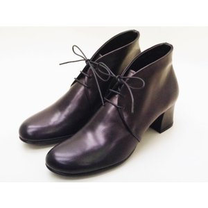 ショセ chausser 靴 レディース C-2261 ブラック BLACK レースアップブーティ creation-shoes