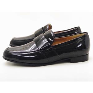 ショセ chausser レディース ローファー C-2257 BLACKエナメル 靴 スリッポン creation-shoes
