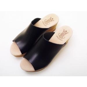 ボントレ BONTRE シンプルサボサンダル (BLACK/ブラック) レディース ウエッジヒール スペイン製|creation-shoes