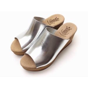 ボントレ BONTRE シンプルサボサンダル (SILVER/シルバー) レディース ウエッジヒール スペイン製|creation-shoes