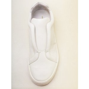 OSKLEN オスクレン men'sスニーカー #52852 オフホワイト レザースリッポン|creation-shoes