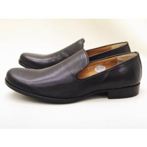 ショセ chausser 靴 メンズスリッポン C-7027 ブラック BLACK ボロネーゼ製法 creation-shoes