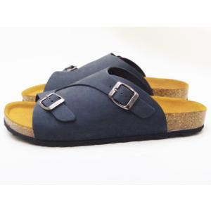 SONIA C ソニア・シー フットベッドサンダル UD04 ネイビーNUBUCK メンズサンダル|creation-shoes