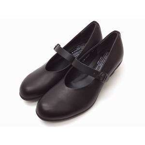 トラベルシューズバイショセ ワンストラップヒールパンプス TR-006 ブラック BLACK レディース|creation-shoes