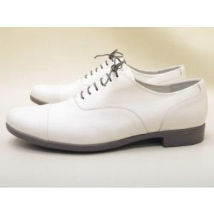 トラベルシューズバイショセ MEN'S ストレートチップシューズ TR-001M ホワイト/グレー MEN'S|creation-shoes