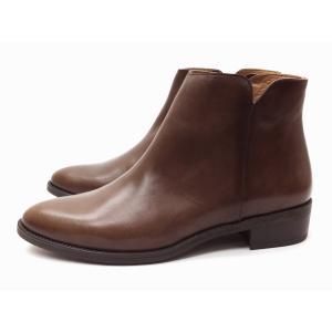 ボントレ BONTRE ブーツ #87851 ブラウン BROWN レディース サイドジップブーツ|creation-shoes
