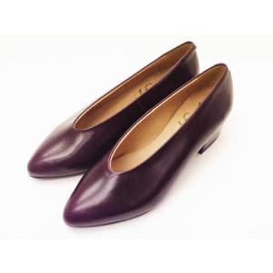 ボントレ BONTRE Uカットパンプス #83851 バーガンディー 靴 スペイン製|creation-shoes