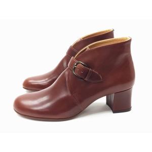 ショセ chausser 靴 レディース C-2277 ブラウン BROWN ストラップブーティ creation-shoes